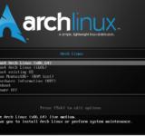 Установка дистрибутива Arch Linux 2017