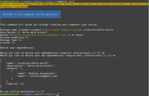 Пример инициализации Composer